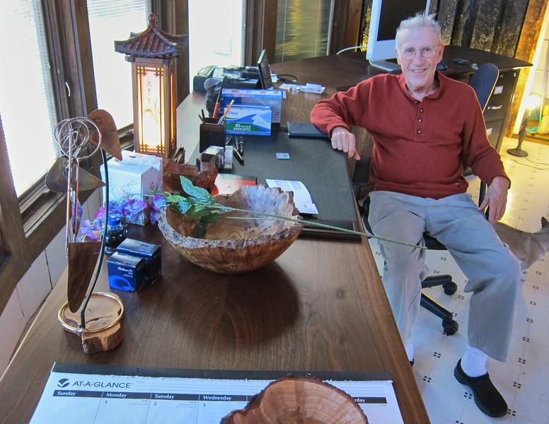 Larry Lebin in his studio.