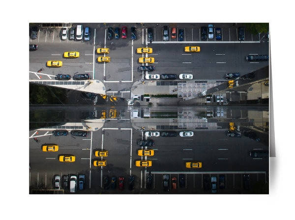 """Reflections of Central Park West<br /> <br /> I was lucky enough to attend a workshop run by the legendary photographer Jay Maisel in NYC.   Jay continually pounded his views on photography into our heads.  He kept saying 'take the shot that no one else is taking'.   The day after the workshop I was invited to my friends apartment on the top of Trump International Tower.   The views of Central Park were breathtaking.    I kept looking for the shot that others weren't seeing.    I finally saw and captured this.  <br /> <br /> My friend said he had never seen that view in more than 10 years living there…it felt like 'graduation'.<br /> <br /> Read about the rest of this day on ShootTokyo:<br />  <a href=""""http://shoottokyo.com/jay-maisel-workshop/"""">http://shoottokyo.com/jay-maisel-workshop/</a>"""
