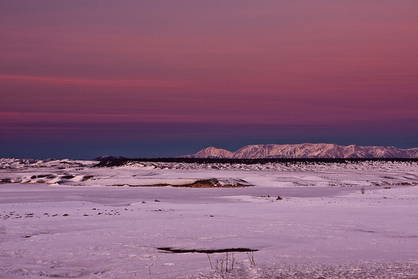Lake Crowley Colorful Sierra Sunset - Feb2011