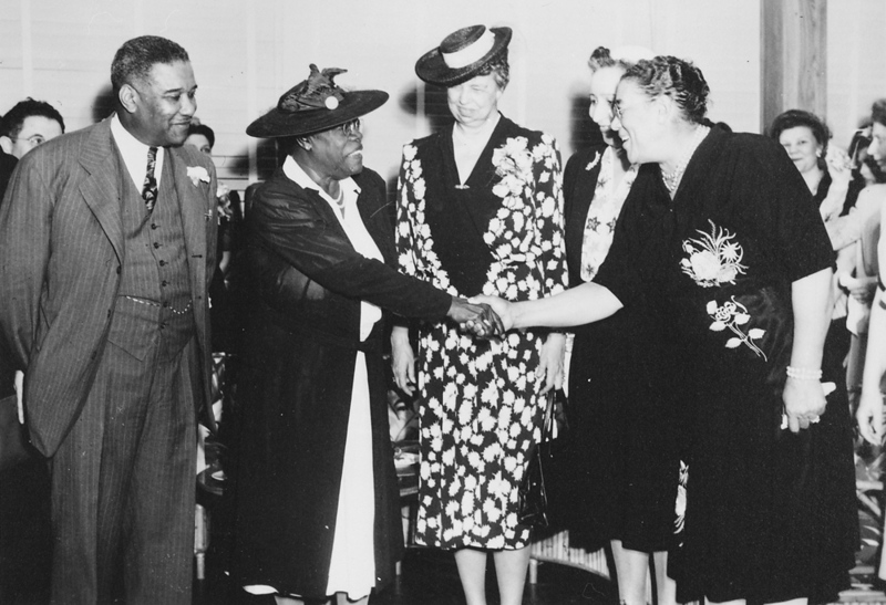 (Mary_McLeod_Bethune),__Mrs._Eleanor_Roosevelt_and_others_at_the_opening_of_Midway_Hall,_one_of_two_residence_halls_buil_-_NARA_-_533032.jpg