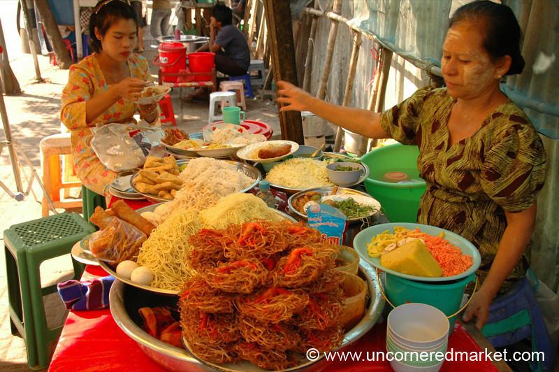 Street Food Snacks - Rangoon, Burma (Yangon, Myanmar)