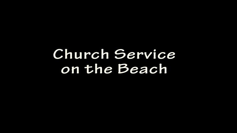 Church Service on the Beach