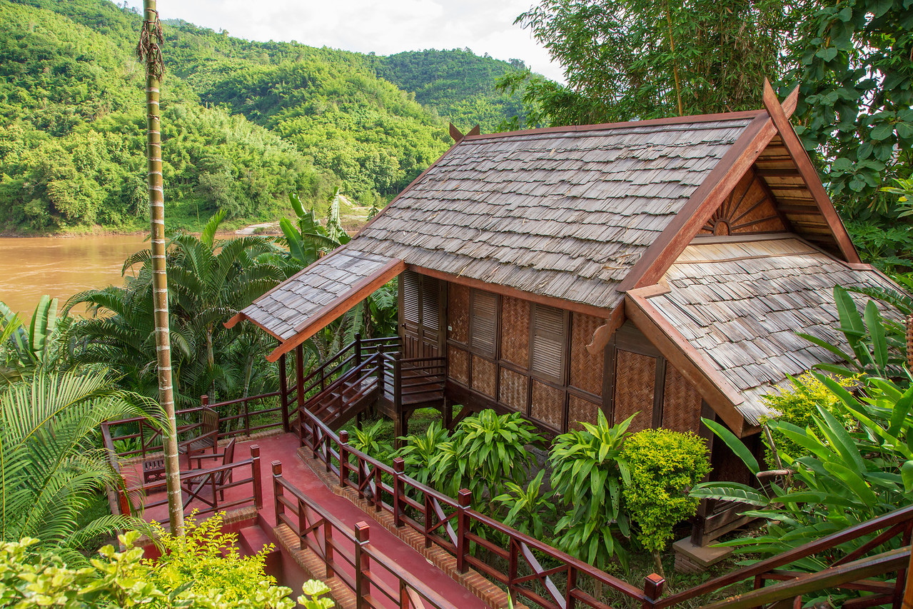 Our Room at Luang Say Lodge in Pakbeng, Laos