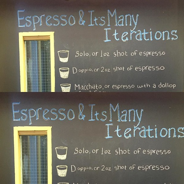 My apologies @flatblackcoffee but I'm the one who erased your chalk apostrophe. Please forgive me. I had to do it.