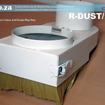 SKU: R-DUST/125, 125mm Spindle Dust Hood with Replaceable Brushes and 100mm Hose Connector