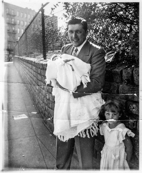 William Brady holding Paul Brady, Jeanne Treat