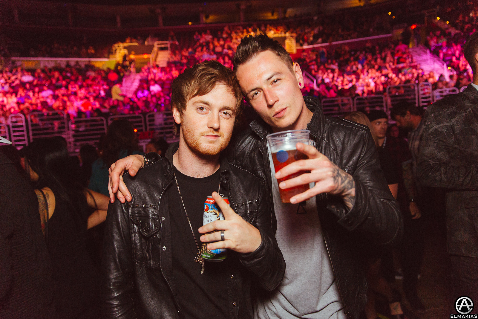 Sam Bettley and James Cassells of Asking Alexandria at the APMAs 2015 by Adam Elmakias