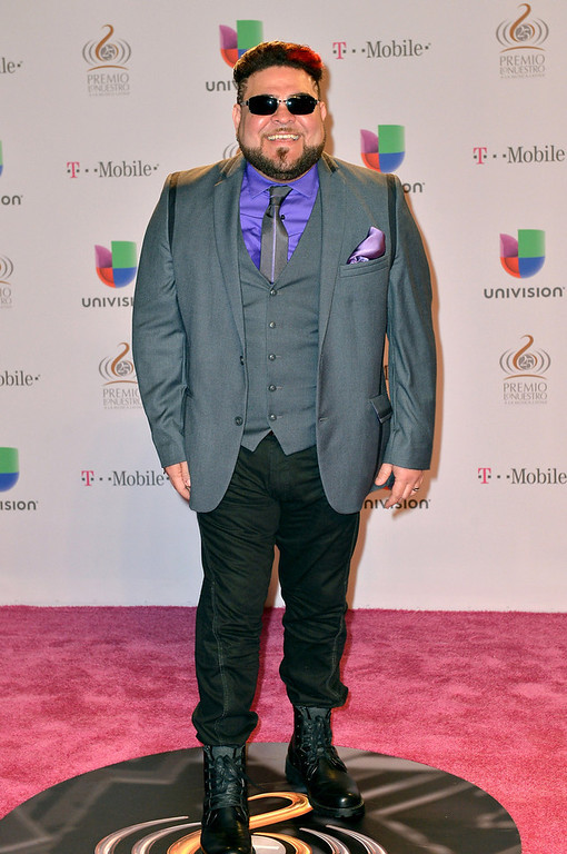 ". Angel Lopez arrives at the 25th Anniversary of Univision\'s ""Premio Lo Nuestro A La Musica Latina\"" on February 21, 2013 in Miami, Florida.  (Photo by Gustavo Caballero/Getty Images for Univision)"