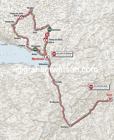 Tour de Romandie:  Stage 2 - Sion > Montreux, 166.5kms