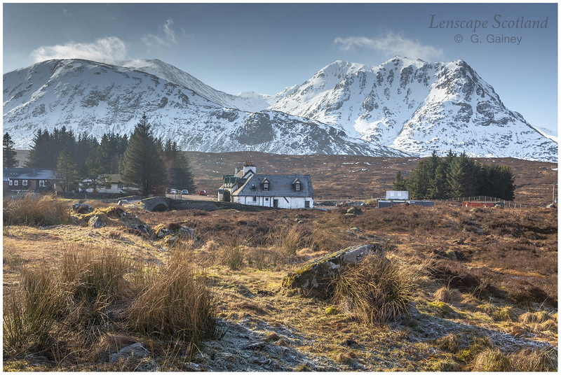 Meall a'Bhuiridh and Creise from the Kings House Hotel