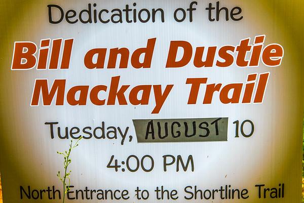Bill & Dustie Mackay's Shortline Trail Dedication - 8-10-21