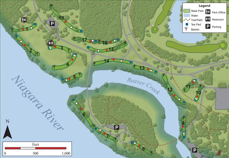 Beaver Island State Park (Disk Golf Map)
