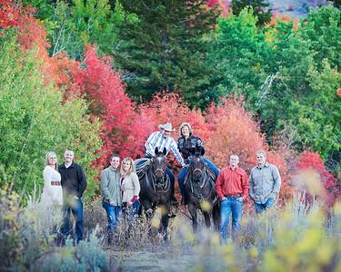 Dixie Hunsaker and the horses