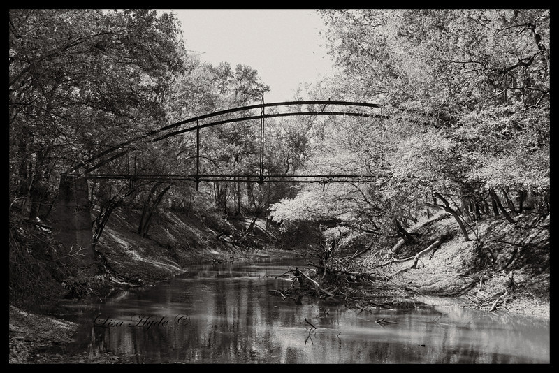 Mickles-Danville Bowstring Bridge, ca 1880 over the Petit Jean River, Yell County, AR