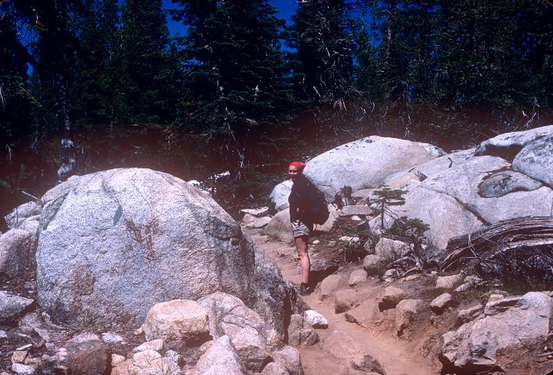 1985-07 Yosemite Chris to May Lake.jpg