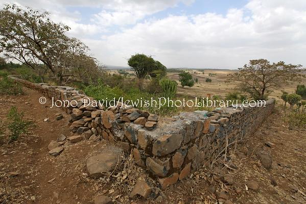 ETHIOPIA, Ategie (Gondar). Jewish Cemetery (3.2015)
