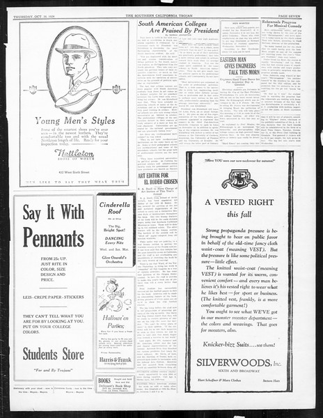The Southern California Trojan, Vol. 16, No. 18, October 30, 1924
