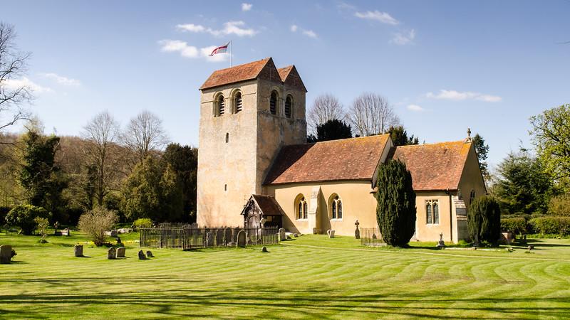 Fingest Church in spring
