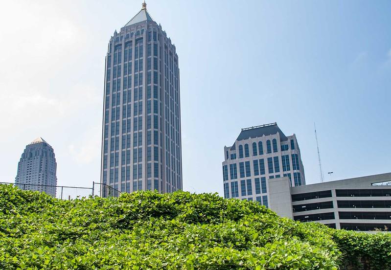Kudzu in downtown Atlanta.