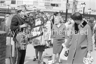 Busker in Friars Square, May 17th 1978