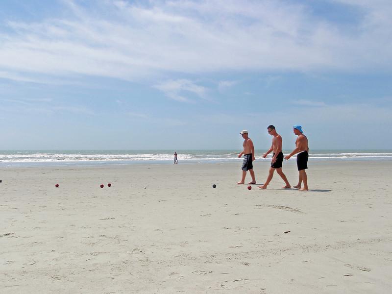 Bocci ball on the beach.