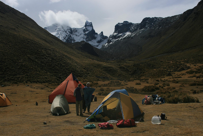 Campsite near Rio Pumarinri Hot Springs: Mt. Cuyoc in the background