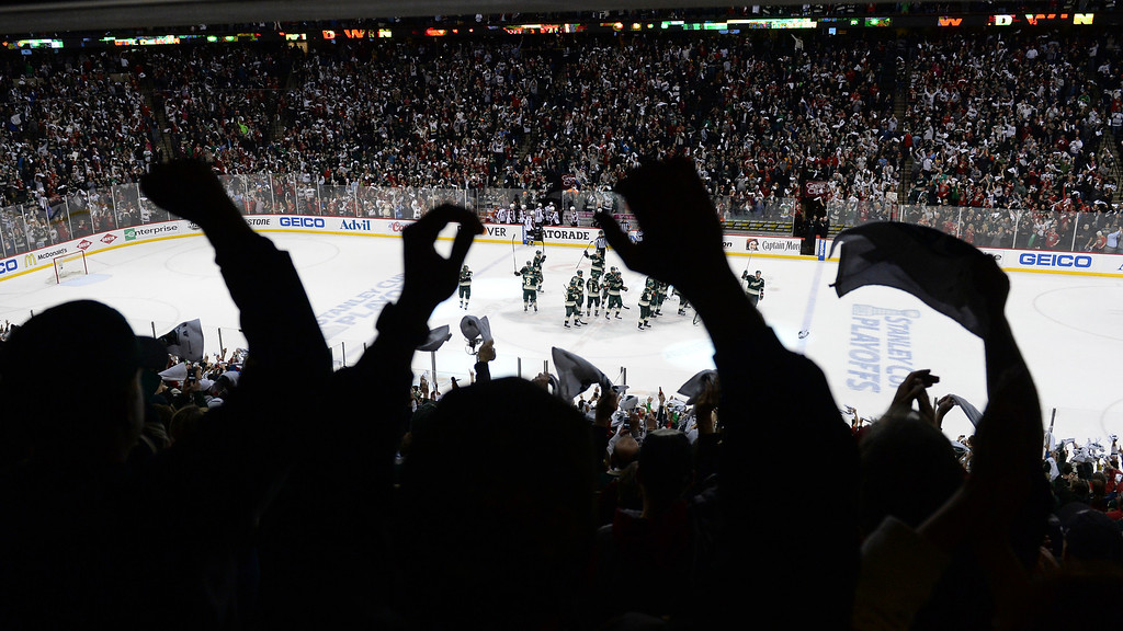 . The Minnesota win forced a game 7 back in Denver on Wednesday.   (Photo by Karl Gehring/The Denver Post)