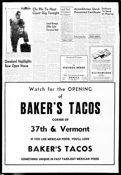 Daily Trojan, Vol. 49, No. 9, October 04, 1957