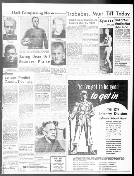 Daily Trojan, Vol. 40, No. 59, December 07, 1948