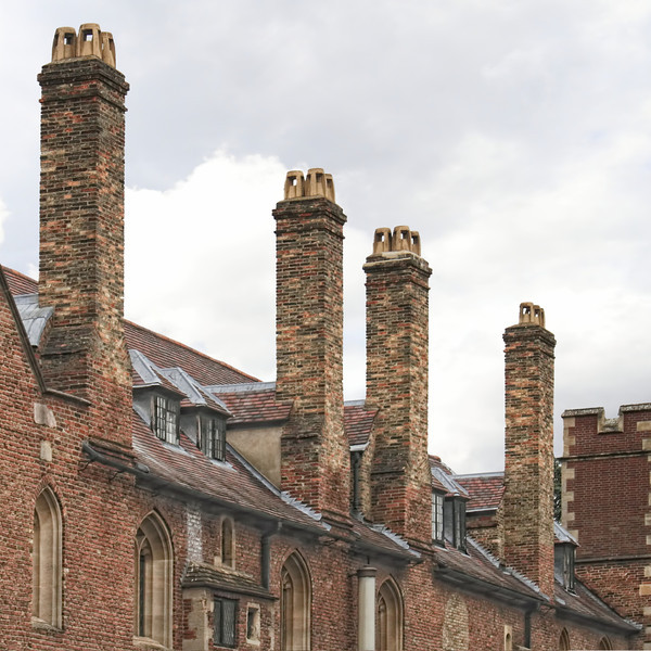 City of various chimneys, Cambridge UK