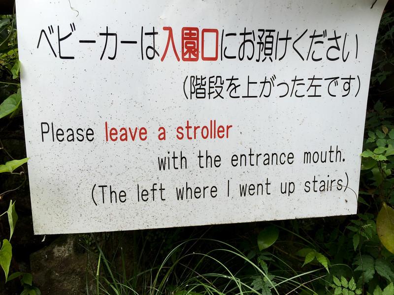 At the entrance to Monkey Mountain, Arashiyama.
