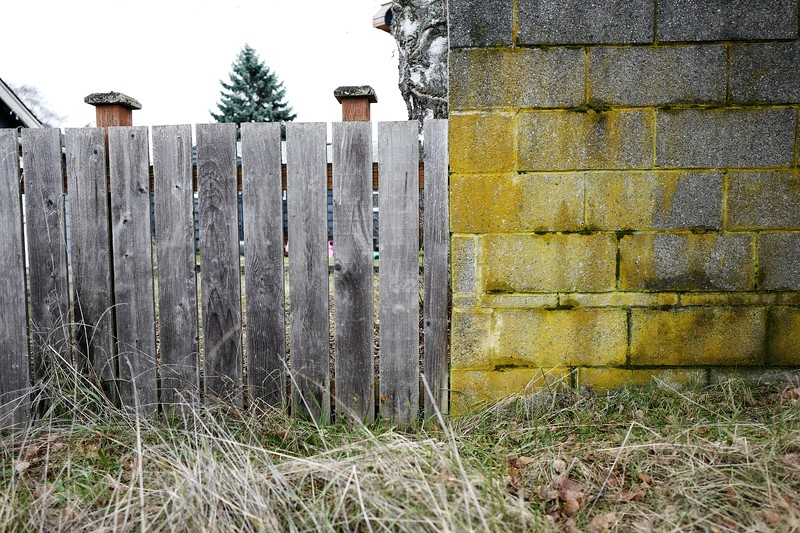 Fence with Cinder Blocks
