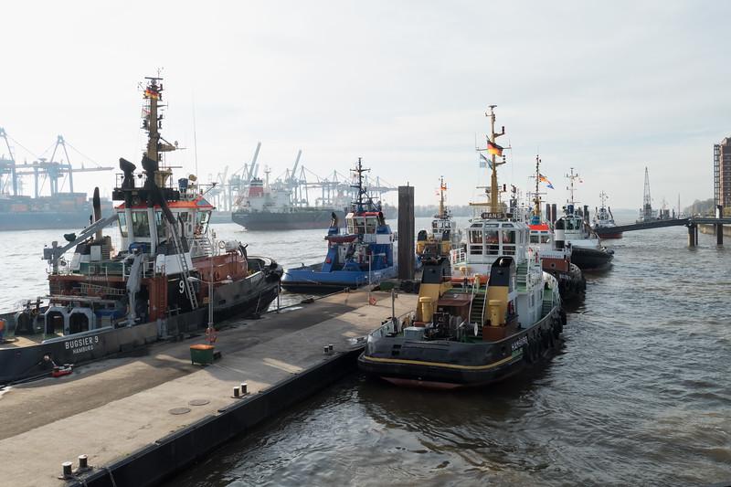 Schlepperbrücke im Hamburger Hafen