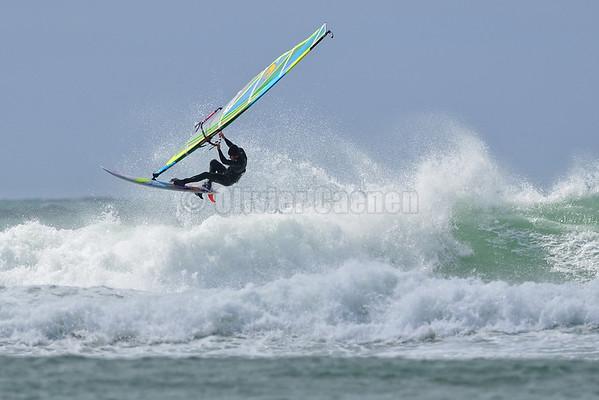 Windsurf à Penhors avec Arthur Arutkin Pâques 2013