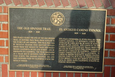 Old Spanish Trail Plaque