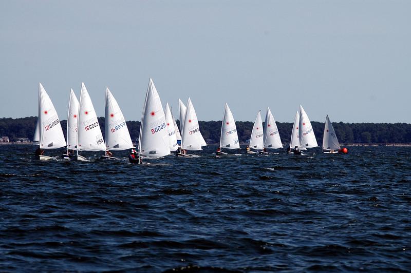 The fleet coming downwind.
