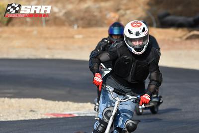 Go Ped Racer White Helmet Red Sticker