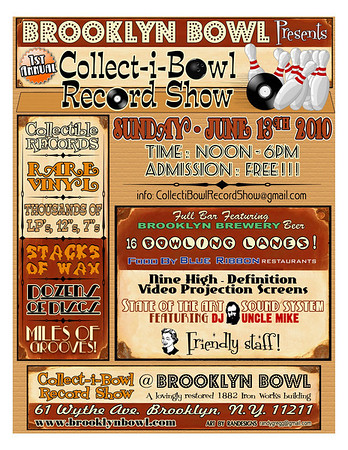 Brooklyn Bowl Record Show Sunday June 13