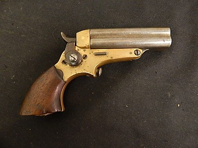 Starr Four Barrel Pepperbox Pistol (JJ Militaria, maker Merrill Patent Firearms Mfg Co)
