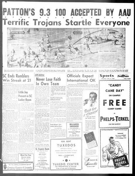 Daily Trojan, Vol. 40, No. 58, December 06, 1948