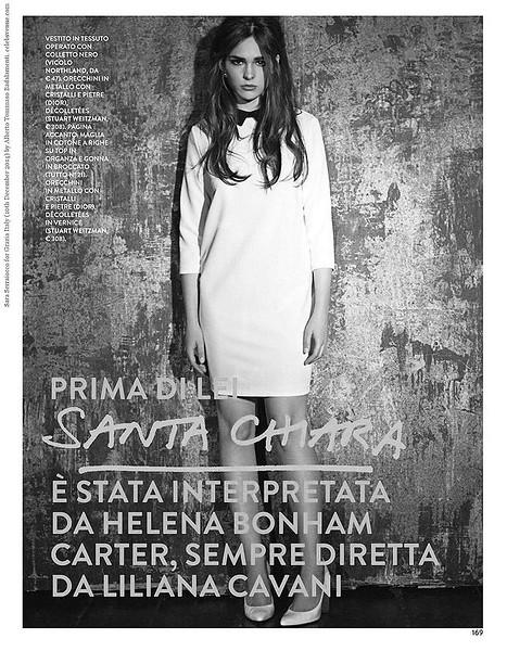 Sara Serraiocco for Grazia Italy (10th December 2014) by Alberto Tommaso Badalamenti