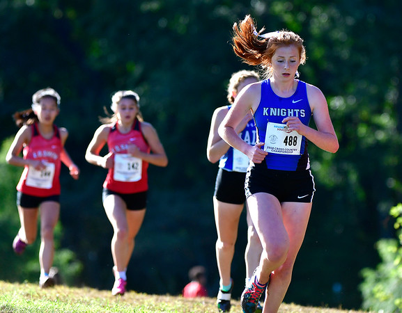 10/16/2018 Mike Orazzi | Staff Southington High School's Kate Kemnitz during the CCC Conference Cross Country Championships in Manchester's Wickham Park Tuesday.