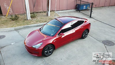 Tesla Model 3 - Red Multi-Coat 2