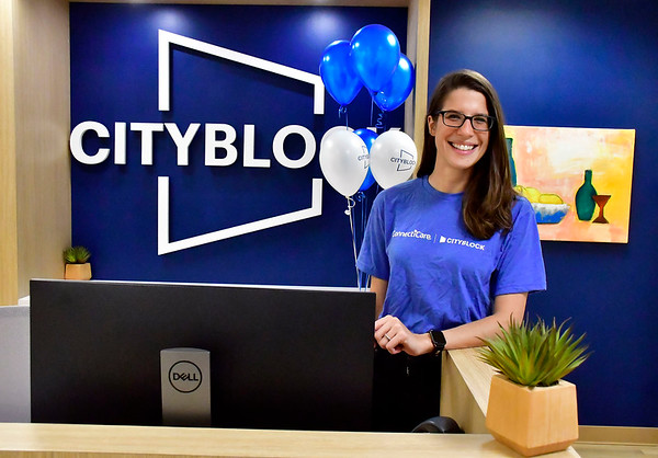 11/20/2019 Mike Orazzi | StaffrCity Block Health's Lauren Morrell at the new location on Valley Street in Bristol on Wednesday afternoon.