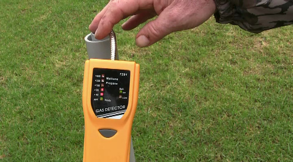 Video. Explosive levels of methane in the nearby home's water supply.