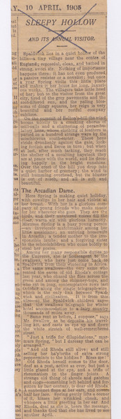 Newspaper clipping part 1