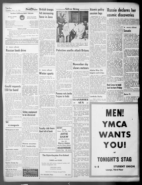 Daily Trojan, Vol. 37, No. 11, November 15, 1945