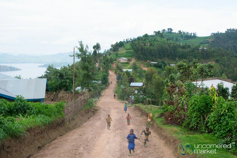 Kids Running After Us - Musanze, Rwanda