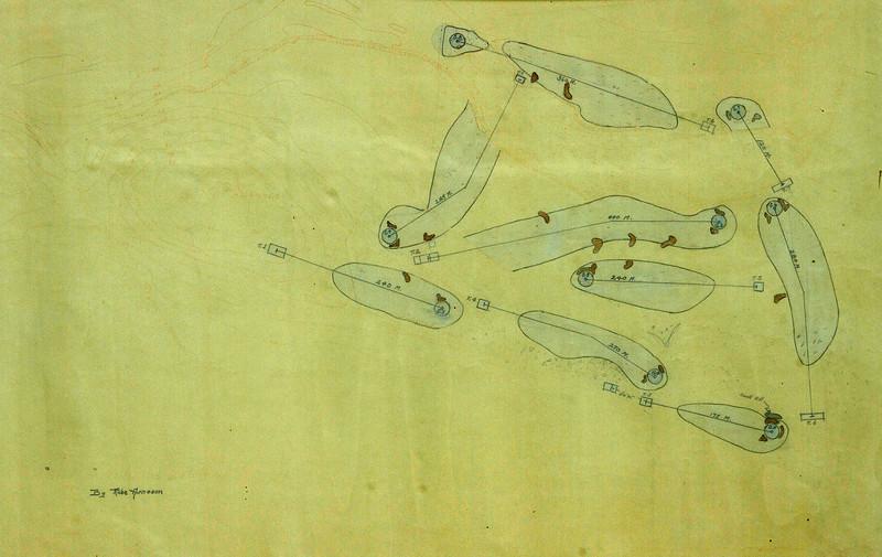 Teikning Rube af vellinum í Mjóumýri