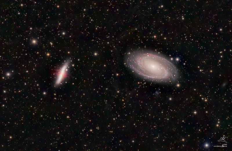 M81 + M82 (Bode- und Zigarren-Galaxie)